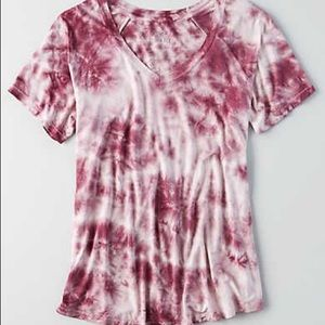 soft and sexy maroon tiedye from american eagle